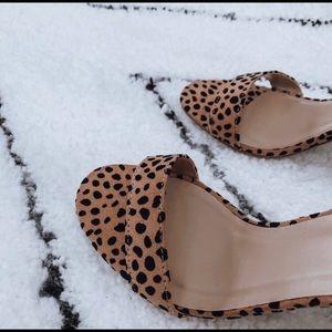 WILA Shoes - NWT Cheetah Print Peep Toe Heels